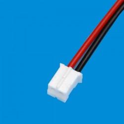Kabel żeński z gniazdem Micro-JST-2.0 2PIN - raster 2.00mm - 20cm