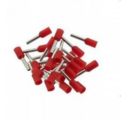 Końcówka kablowa VE7508 tulejkowa z izolacją - czerwona 0,75mm2 - 100szt - Konektor
