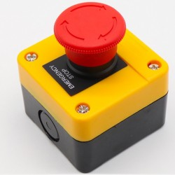 Przełącznik bezpieczeństwa - LAY37-11ZS - grzybkowy - w obudowie