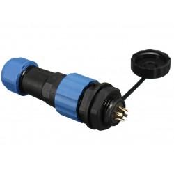Złącze przemysłowe SP16 2-PIN IP68 - wtyk z gniazdem