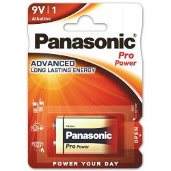 Panasonic Pro Power, 1x 9V / 6LR61 - 1 bateria - blister