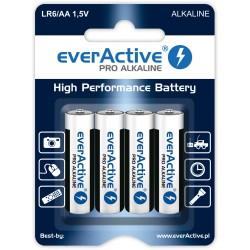 Baterie alkaliczne - 4x LR6 / AA - everActive - 4 sztuki - blister