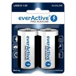 Baterie alkaliczne - 2x LR20 / D - everActive - 2 sztuki - blister