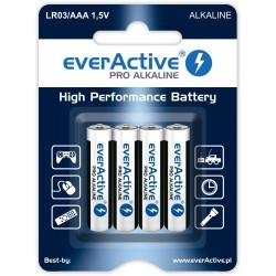 Baterie alkaliczne - 4x LR03 / AAA - everActive - 4 sztuki - blister
