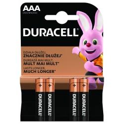 Baterie alkaliczne - 4x AAA / LR03 - Duracell Basic - 4 sztuki - blister