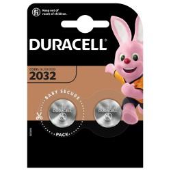 Baterie litowe - 2x CR2032 - Duracell Basic - 2 sztuki - blister