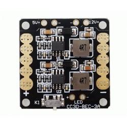 Płytka zasilająca ESC + 2xBEC 12V i 5V z przełącznikami