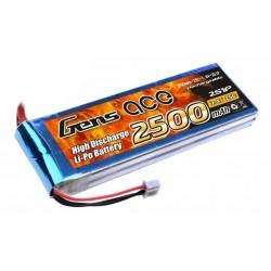 Li-Po Gens Ace 2500mAh 7.4V 25C
