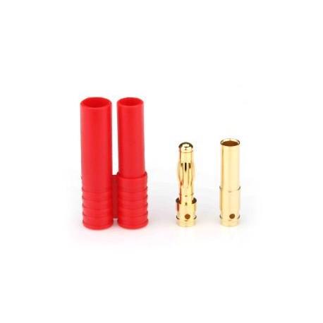 Para konektorów GOLD 4 mm z osłoną