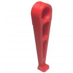 Podwozie - Noga - mocowana na rurkę 12mm - czerwone