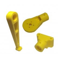 Mocowanie silnika + rurki + noga - 10mm - żółte