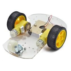 Podwozie robota ZK-02 - 200mm - 2 silniki z enkoderami - platforma mobilna
