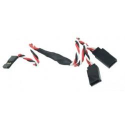Rozgałęziacz V do serw - 15cm - 22AWG - kabel Y - skręcony