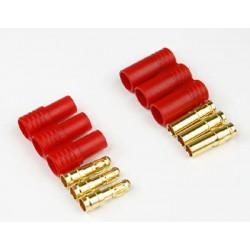 Wtyki GOLD - 3,5mm Code 1011A z osłonką - żeński i meski - 3 pary