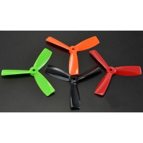 Śmigła Bullnose 3-blades 5x4,5 - komplet 4szt - czerwone