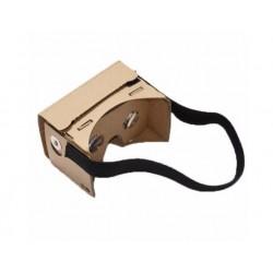 "Okulary Google Cardboard 3D VR z opaską oraz NFC - telefon od 3,7"" do 5,5"""