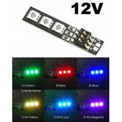 Wielokolorowe paski RGB 5050 LED - 12V oświetlenie do dronów - sam ustalasz dowolny kolor