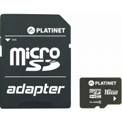 Karta pamięci PLATINET 16GB 10 Class + Adapter