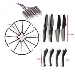 Syma X5SC / X5SW - Zestaw naprawczy - czarny - śmigła, nogi, osłony, 4x silnik