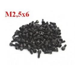 Śruby Socket M2,5x6 - 52 szt - do ram F450/F550 - wkręty pod klucz imbusowy