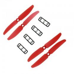 Śmigła LJI 5x3 CW/CCW - czerwone - 2 szt - para śmigieł 5030