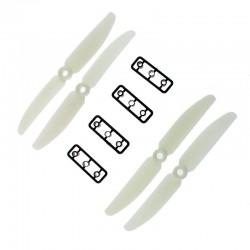 Śmigła LJI 5x3 CW/CCW - białe - 2 szt - para śmigieł 5030