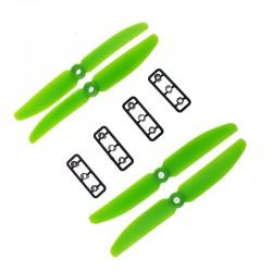 Śmigła LJI 5x3 CW/CCW - zielone - 2 szt - para śmigieł 5030