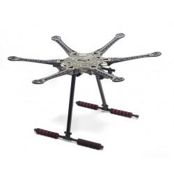 Rama Hexacopter S550 (F550) PCB - węglowe wysokie podwozie, wzmacniane ramiona