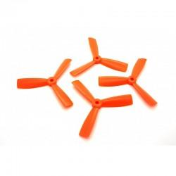 Śmigła Bullnose 4x4,5x3 CW/CCW - orange - 4 szt - śmigła PC-Glass 4045 tri blade