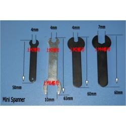 Mini klucz płaski 7mm (na śrubę M4)