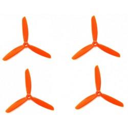 Śmigła DAL TJ5045 - orange - Tri-blade - 5x4,5x3 - 2xCW/2xCCW - DALPROP 4 szt