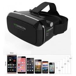 "Okulary VR SHINECON 3D 360 z Pilotem - do telefon od 3,5"" do 6"" - Oculus Rift Google"