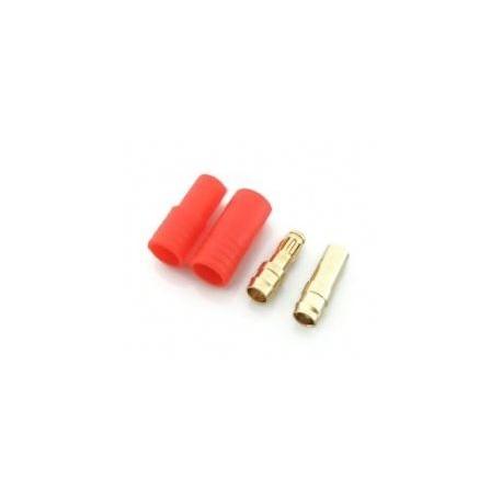 Wtyki GOLD - 3,5 mm - zestaw z osłonką - 1 szt.
