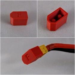 Osłonka na wtyk XT60 - czerwona - Zabezpieczenie złącza