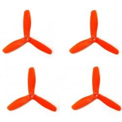 Śmigła DAL V2 T5045 - orange - Tri-blade - 5x4,5x3 - 2xCW/2xCCW - DALPROP 4 szt