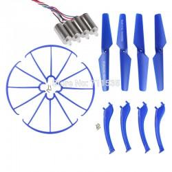Syma X5SC / X5SW - Zestaw naprawczy - niebieski - śmigła, nogi, osłony, 4x silnik