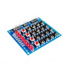 Klawiatura 5x4 + wskaźniki LED - matryca 20 przycisków - Arduino