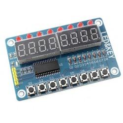 Wyświetlacz LED 8-cyfr + 8 przełączników + 8 LED - klawiatura