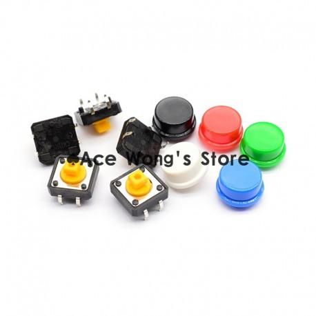 Zestaw przełączników - microswitch - 5 szt z nasadkami