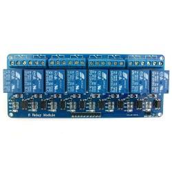 Moduł przekaźnika 8-kanałów - 5V - 10A/250V - z optoizolacją