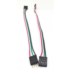Kabel Taśma żeńsko-męski 4-PIN 20cm