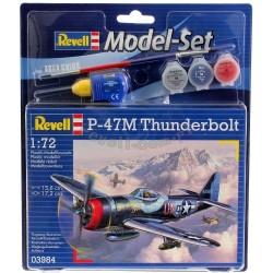 P-47 M Thunderbolt - Revell - 63984 - Zestaw z klejem i farbami