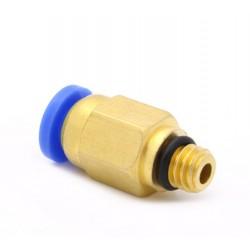 Bowden złącze - końcówka PC4-M6 - bowden 4mm - gwint M6