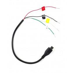 Wtyk USB - Prosty - AV i DC do kamery SJ4000/ SJ6000 - przewód sygnał Video i zasilanie
