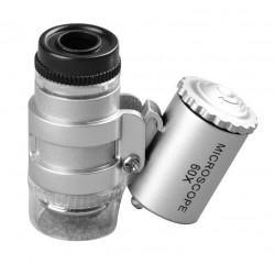 Lupa mikroskop 60x - oświetlenie LED + UV