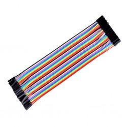 Przewody kable zworki 10szt 20cm - żeńsko-żeński