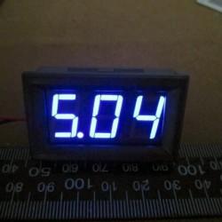 """Miernik napięcia 4.5 - 30 V - niebieski w obudowie - 0.56"""""""