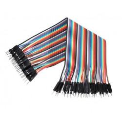 Przewody kable zworki 10szt 20cm - męsko-męski