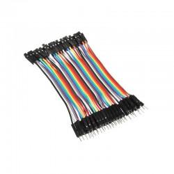 Przewody kable zworki 10szt 20cm - męsko-żeński