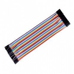 Przewody kable zworki 10szt 10cm - żeńsko-żeński